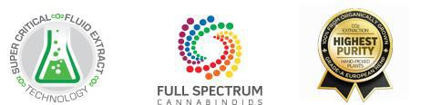 Super Critical Fluid Extract Technology, Full Spectrum Cannabinoids, Highest Purity logos